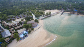 Aerial view of payam island sea beach in ranong province andaman Royalty Free Stock Photos