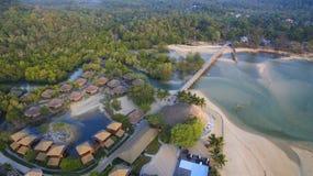 Aerial view of payam island sea beach in ranong province andaman Stock Photo