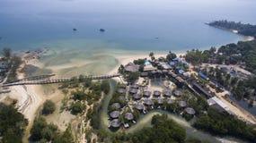 Aerial view of payam island sea beach in ranong province andaman Royalty Free Stock Photography