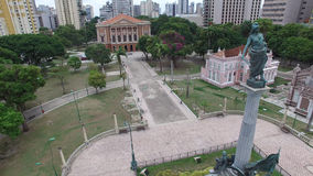 Aerial view of the Paz Theater in Belem do Para, Brazil.  Royalty Free Stock Photography