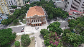 Aerial view of the Paz Theater in Belem do Para, Brazil.  Stock Images