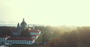 Pazaislis Monastery and Church, drone aerial view stock video