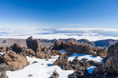 Aerial view from peak of volcano Teide, Tenerife Stock Images