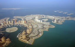 Aerial view of The Pearl Qatar Royalty Free Stock Photography