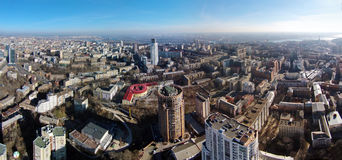 Aerial view of Pechersk district in Kiev Royalty Free Stock Photo