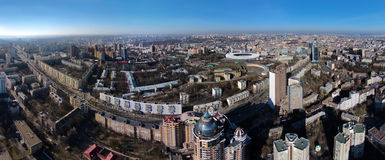 Aerial view of Pechersk district in Kiev Stock Photo