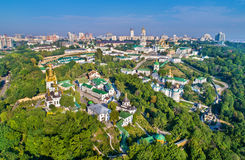 Aerial view of Pechersk Lavra in Kiev, the capital of Ukraine Stock Images