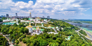 Aerial view of Pechersk Lavra in Kiev, the capital of Ukraine Royalty Free Stock Image