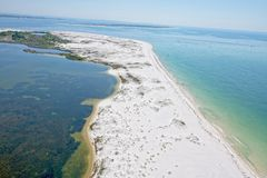 An Aerial View of Pensacola Beach, FL. USA stock photography