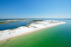 An Aerial View of Pensacola Beach, FL. USA stock images