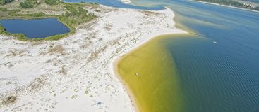 An Aerial View of Pensacola Beach, FL. USA stock photo