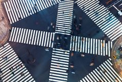 Aerial view of a big intersection in Tokyo Royalty Free Stock Photography