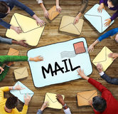 Aerial View of People and E-Mail Concepts Royalty Free Stock Photo