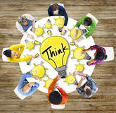 Aerial View People Ideas Innovation Motivation Think Concept Royalty Free Stock Images