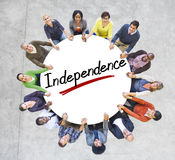 Aerial View of People and Independence Concepts Royalty Free Stock Photos