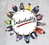 Aerial View of People and Individuality Concepts Stock Photos