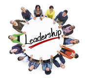 Aerial View of People and Leadership Concepts.  Stock Photo