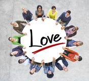Aerial View of People and Love Concepts Stock Photo