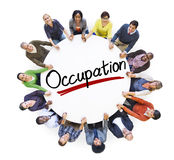 Aerial View of People and Occupation Concepts.  royalty free stock images