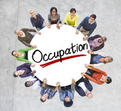 Aerial View of People and Occupation Concepts Stock Images