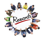 Aerial View of People and Rewards Concepts.  royalty free stock photo