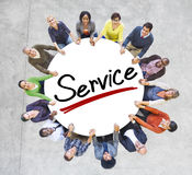 Aerial View of People and Service Concepts Royalty Free Stock Images