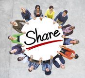 Aerial View of People and Share Concepts Stock Photography