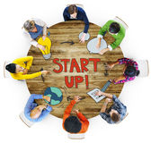 Aerial View of People and Startup Busines Concepts Stock Images
