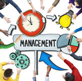 Aerial View of People and Time Management Concepts Stock Image