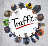 Aerial View of People and Traffic Concepts Royalty Free Stock Photography