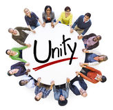 Aerial View of People and Unity Concepts Royalty Free Stock Photo
