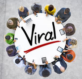 Aerial View of People and Viral Concepts Royalty Free Stock Image