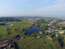 Aerial view of Pereslavl-Zalessky city stock image