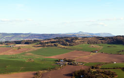 Aerial view of Perthshire countryside Stock Image