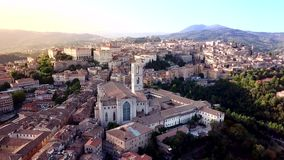 Aerial view of Perugia Tuscany Italy. Drone video footage - Aerial view of Perugia Tuscany Italy stock video footage