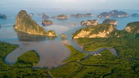 Aerial view of Phang Nga bay Stock Image