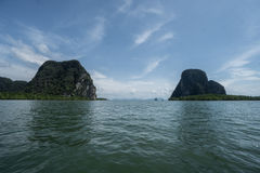 Aerial view Phang Nga Bay Marine National Park protected and of international ecological significance wetlands forestation Stock Photography