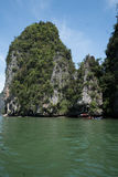Aerial view Phang Nga Bay Marine National Park protected and of international ecological significance wetlands forestation Royalty Free Stock Image