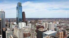 Aerial view of Philadelphia stock video
