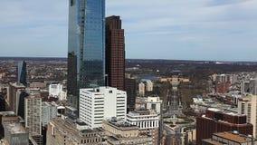 An aerial view of Philadelphia, Pennsylvania stock footage