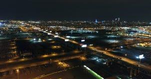 Aerial View Philadelphia Skyline and Surrounding Area Night. Aerial View Philadelphia Skyline and Surrounding Area at Night stock video