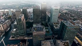 Aerial View Photo of London City Financial District and Skyscrapers Royalty Free Stock Photos