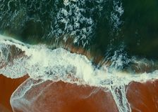 Aerial View Photography of Seashore at Daytime Royalty Free Stock Photography