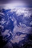 Aerial View Photography of White Snow Mountain during Daytime Royalty Free Stock Photography