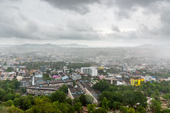 Aerial view Phuket City in rainy day.  Stock Image