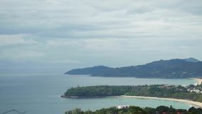 Aerial view of Phuket island from the mountains. Thailand, 3840x2160 stock footage