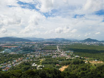 Aerial view of Phuket town, Thailand. Drone Royalty Free Stock Image