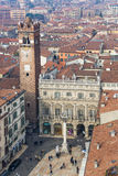 Aerial view of Piazza delle Erbe Stock Images