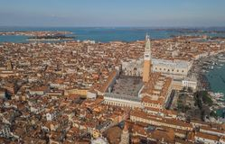Aerial view of Piazza San Marco. In Venice Stock Photo