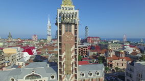Aerial view of Piazza square in Batumi stock footage